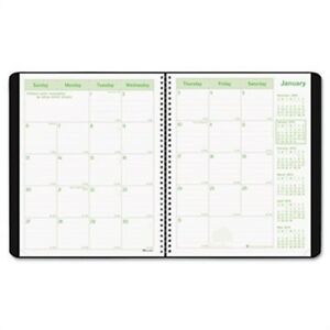 Ecologix Recycled Monthly Planner 11 X 8 1 2 Black Soft Cover 2013 2015 2 Pa