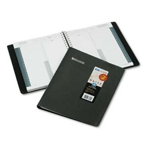 Recycled 24 hour Daily Appointment Book 8 1 2 X 11 Black 2014