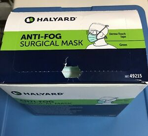 Halyard 49215 Anti fog Surgical Mask With Derma Touch Box With 50 Units