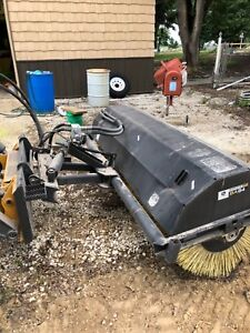 Skid Steer 84 John Deere Bobcat Cat Power Angle Broom Sweeper Attachment