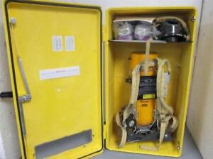 Scott Scba 30 Min Self Contained Breathing Apparatus Kit W encon Wall Cabinet