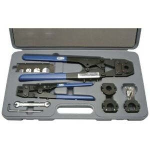 Zurn Multi Head Pex Crimp Ring Tool Kit Adjustable Crimper And Cutter Straight