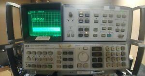Hp Agilent 8567a Spectrum Analyzer 10khz 1 5ghz W 85662a Display Unit Cables
