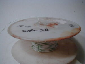Wr 58 24 Teflon Insulated Hookup Wire Stranded Silver Plated Copper 200 Ft Nos