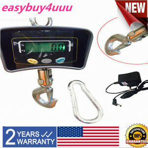 Electronic Digital Portable Hook Hanging Crane Scale 500 Kg 1100 Lbs Lcd Usa