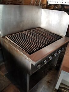 36 Commercial Imperial Char Broiler Grill With Flash Guard And Stand