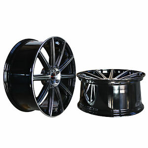 Set Of 4 Gwg Wheels 20 Inch Staggered Black Mod Rims Fits 5x112 Et35 42 Cb74 1