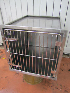 Stainless Steel Kennel Cages 24x24x28 Cat Dog Grooming Vet Used shor line Type
