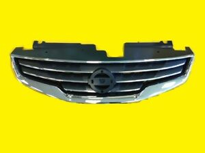 Grille Fits Nissan Altima Sedan 2010 2012 Chrome Black Oem 62070 Zx00a