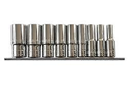 Laser Tools Whitworth Deep Socket Set 1 2 D 9 Pieces 6195l