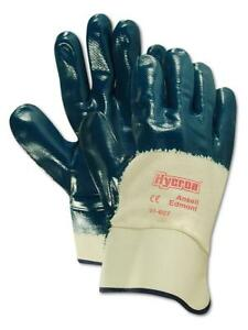 Ansell Hycron 27607 Blue Nitrile Coated Safety Gloves 12 Pairs