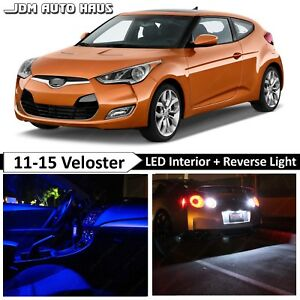 Blue Interior Reverse Led Lights Bulb Package Fits Hyundai Veloster 2011 2015