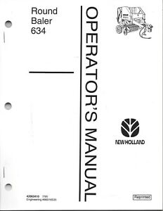 New Holland 634 Round Baler Operator Manual 42063410