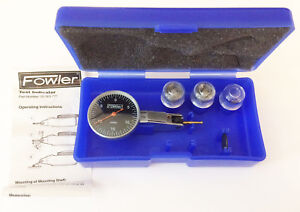 Fowler Black Face Dial Test Indicator 52 563 772 0005 In