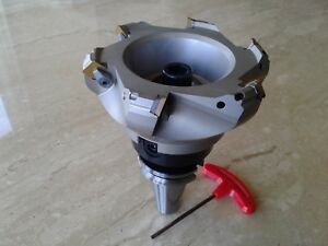5 45 Degree Indexable Face Mill Shell Mill W Sean42aftn W Cat40 Arbor new