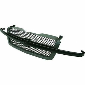 For 2003 2007 Chevrolet Chevy Silverado Grille Assembly 2006 2005 2004