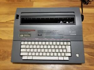 Smith Corona Sl 480 Model 5acm Electric Typewriter Excellent Working Cond