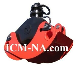 54 Icm Log Grapple With Continuos Rotation Rotator For Logs brush waste