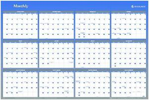 At a glance 2014 Vertical And Horizontal Erasable Yearly Wall Planner 48 X 32