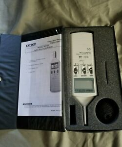 Extech 407736 Dual Range Digital Type 2 Sound Level Meter Case Manual Accs