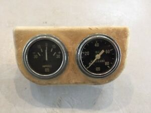 Old Vintage Stewart Warner Amp oil Gauges Stewart Warner Mounting Pod