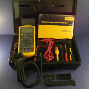 New Fluke 88v a Automotive Multimeter Kit Hard Case More
