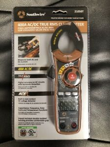 Southwire 400a Ac dc True Rms Clamp Meter model 21050t brand New