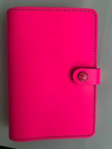 Filofax Fluro Pink Personal Planner Used Once
