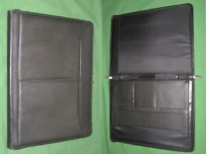 Note Pad 8 5x11 Black Leather Day Runner Planner Binder Franklin Covey Monarch