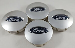 4x Ford Brushed Silver Wheel Hub Center Caps Bb53 1a096 Ra Edge Explorer Fusion