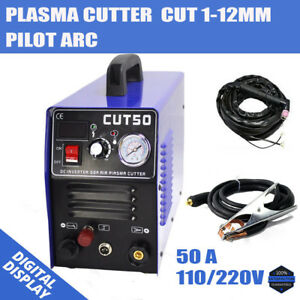 Cut50p Air Inverter Plasma Cutter Machine 50amp Dc Daul Voltage 110 220v 1 12mm