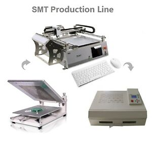 Cheap Smt Line automatic Pick And Place Machine Neoden3v adv solder Printer oven