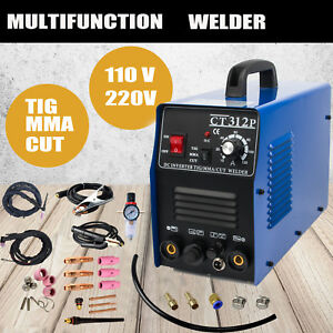 3 In 1 Pilot Arc Plasma Cutter Machine Cut Tig Mma Weldding Stainless Steel