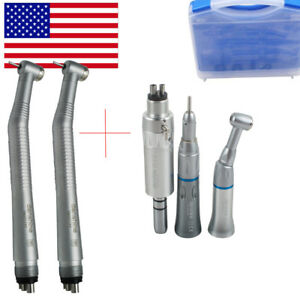 Usa 4hole Dental 2 high 1 slow Low Speed Handpiece 1 box Kit Push E type Motor