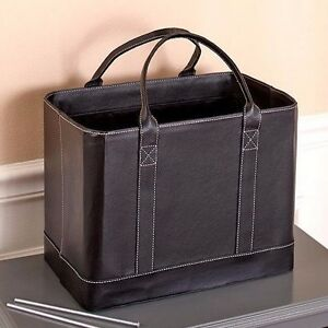 Chic Portable File Organizer Storage Tote Bag Black New