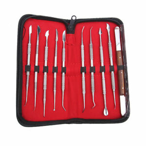 German Stainless Steel Wax Carving Tool Set Surgical dental In