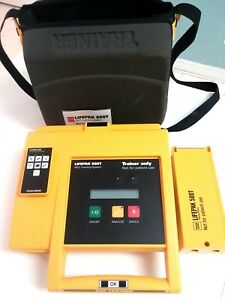 Physio Control Lifepak 500t Aed Trainer W Case Battery Pack Remote Manual