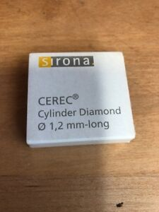 Sirona Cerec Inlab Cylinder Diamond Ten Total Burs Dental Milling 1 2mm long