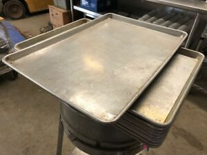 Lot Of 10 Clean Commercial Kitchen Food Cooking Baking Bakery Sheet Pans 18x26