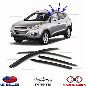 Smoked Door Visor Window Sun Vent Deflector Fits Hyundai Tucson 2011 2015 a116