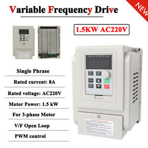 Ac220v 1 5kw Vfd Variable Frequency Drive Inverter Speed Controller Converter Im