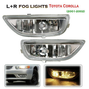 Pair Car Front Bumper Driving Fog Light For Toyota Corolla 2001 2002 81210 02040
