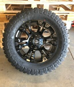 New 20 Fuel Vapor D560 Wheel And Tire Package 35x12 50r20 Chevy 1500 6 Lug Gm