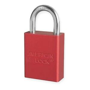 American Lock A1105red Lockout Padlock Red 1 4 In Dia Box Of 6