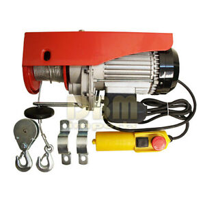 450 Lb 900 Lb Electric Wire Rope Cable Hoist Lift Pulley 980 W Free Shipping