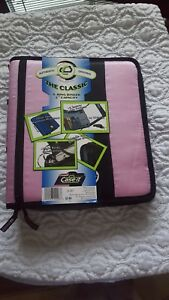 Brand New Case It the Classic 3 ring Binder 2 Capacity Pink Black