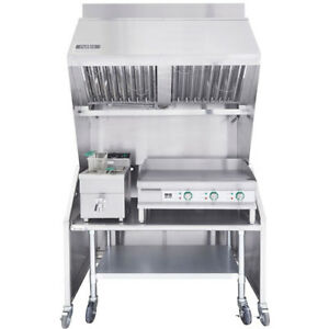 Ventless 4ft Package 15lb Induction Fryer 30 Griddle Table
