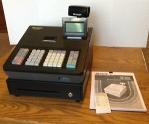 Sharp Xe a23s Cash Register With Key Manual Tested And See Video Demo Below