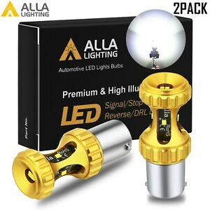 Alla Lighting 1156 Csp Led Back Up Reverse Light Bulb Lamp Backup 6000k White 2x