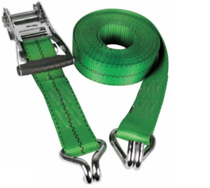 Winch Ratchet Straps 2 Inch X 30 Feet Green Truck Shipping Moving Trailer Ft
